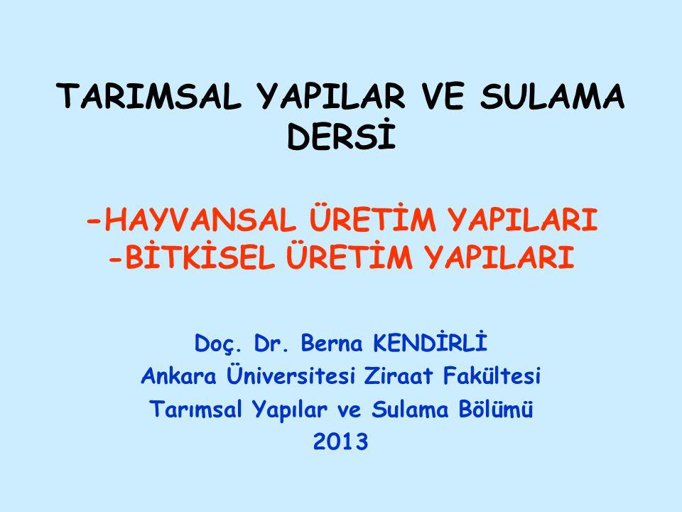 Giriş Türkiye'de tarım işletmelerinin %86'sında bitkisel ve hayvansal üretim birlikte yapılmaktadır.
