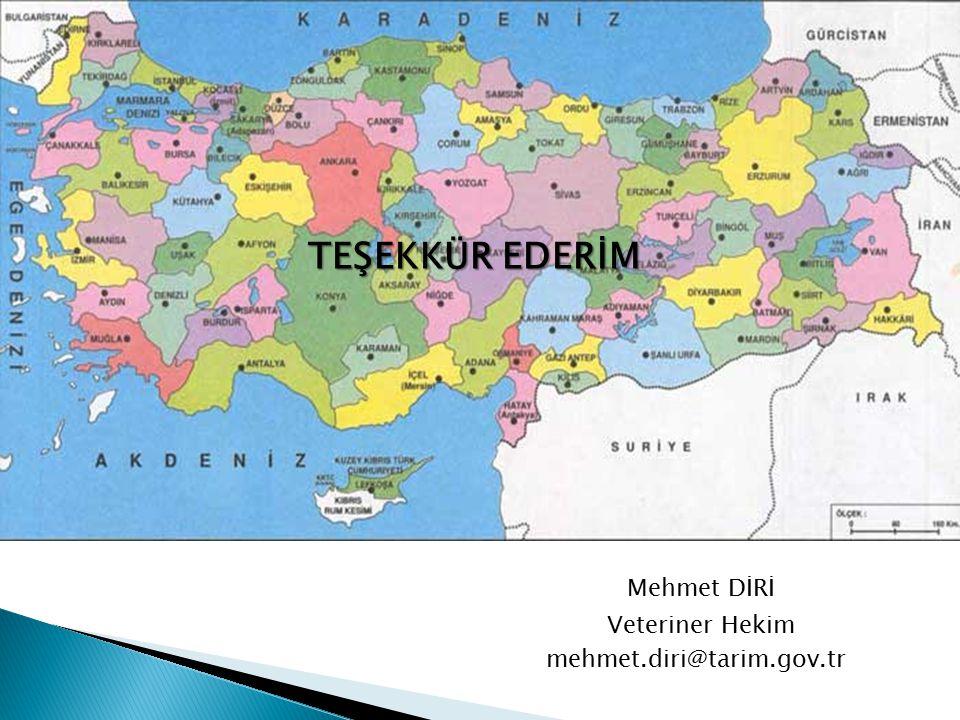 Mehmet DİRİ Veteriner Hekim mehmet.diri@tarim.gov.tr TEŞEKKÜR EDERİM
