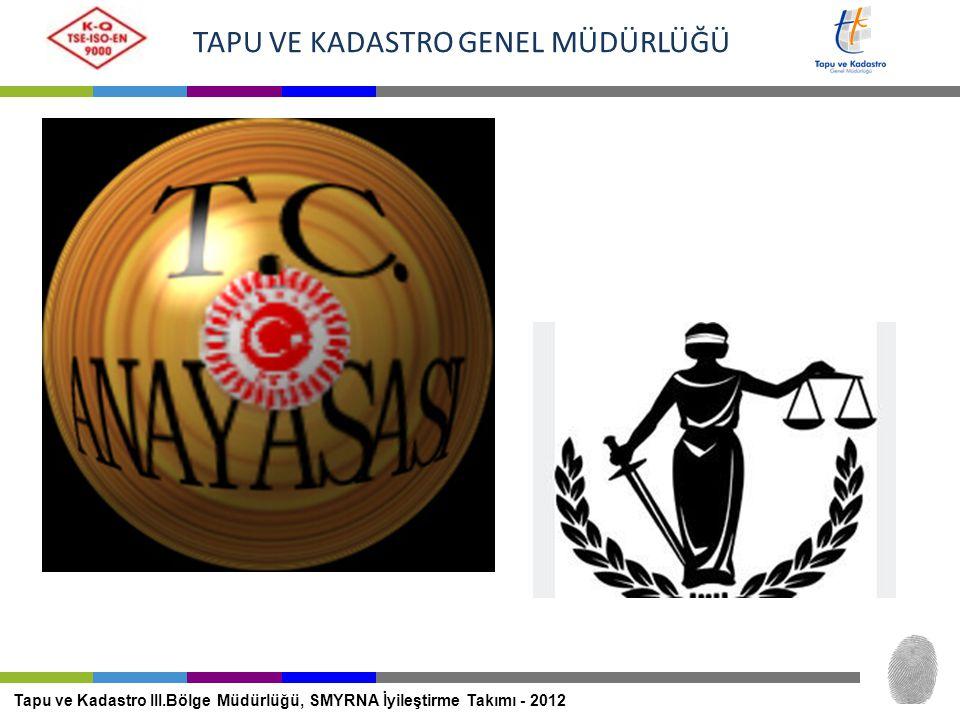 TAPU VE KADASTRO GENEL MÜDÜRLÜĞÜ Tapu ve Kadastro III.Bölge Müdürlüğü, SMYRNA İyileştirme Takımı - 2012 MERNİS