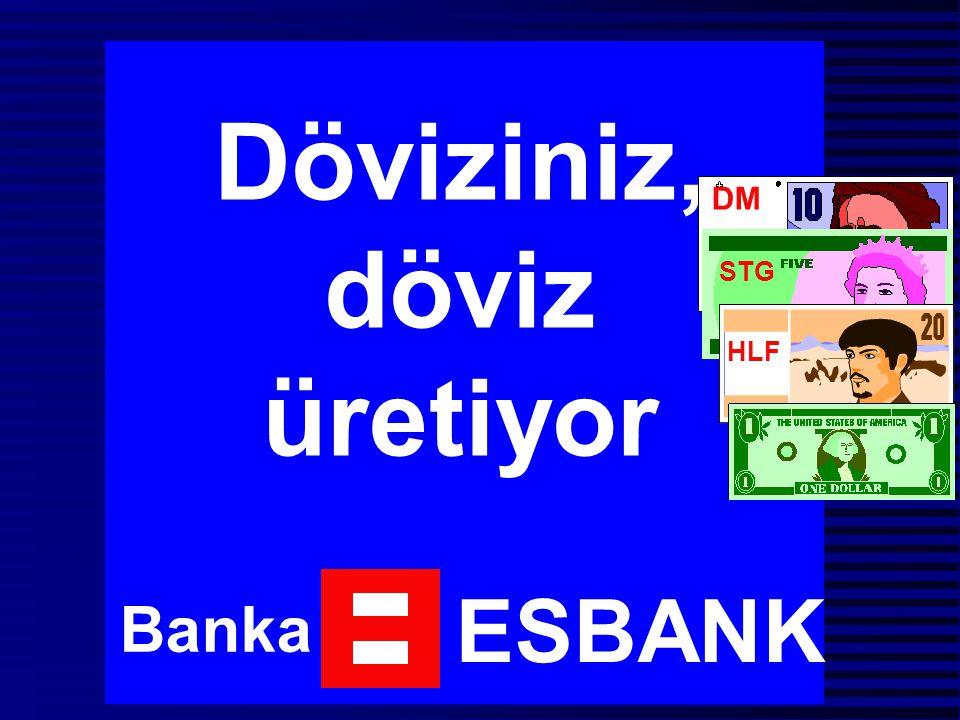 Döviziniz, döviz üretiyor Banka ESBANK DM STG HLF