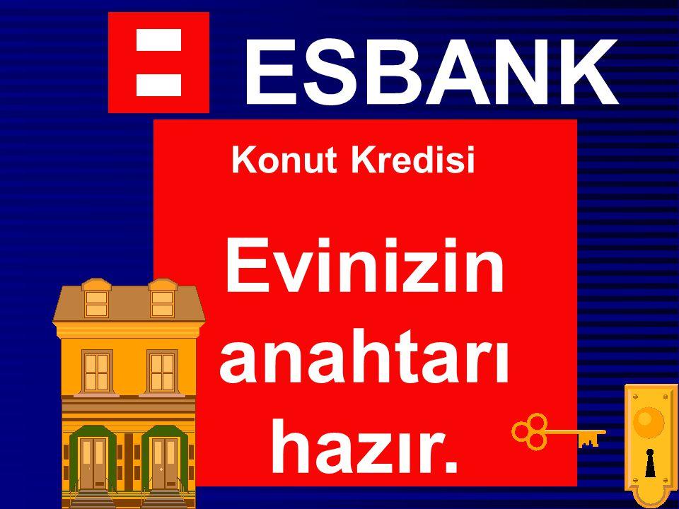 ESBANK Evinizin anahtarı hazır. Konut Kredisi