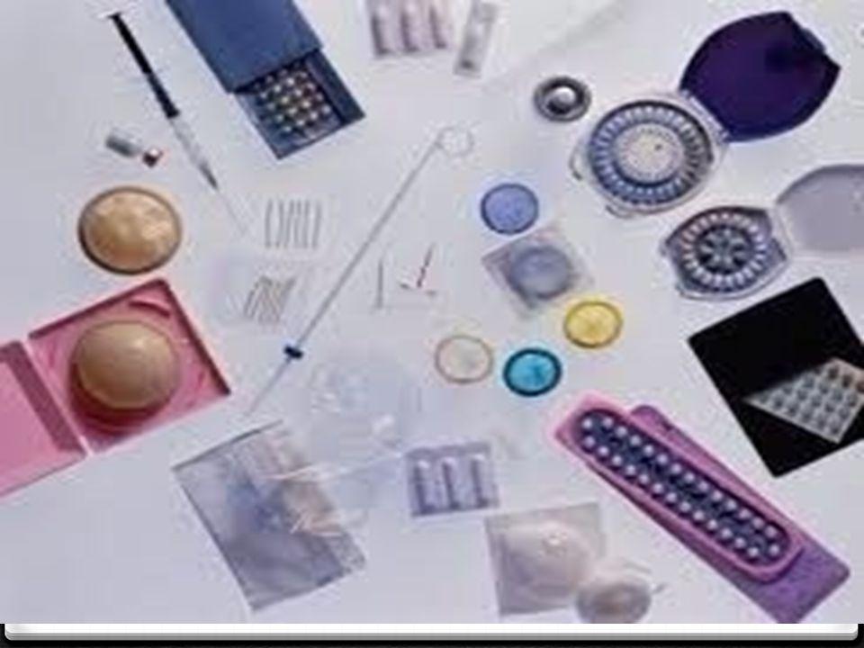 HORMONAL KONTRASEPTİFLER: Hap iğne Norplant RAHİM İÇİ ARAÇ: BARİYER YÖNTEMLER: Kondom Diyafram Spermisitler CERRAHİ YÖNTEMLER: Vazektomi Tüp ligasyonu