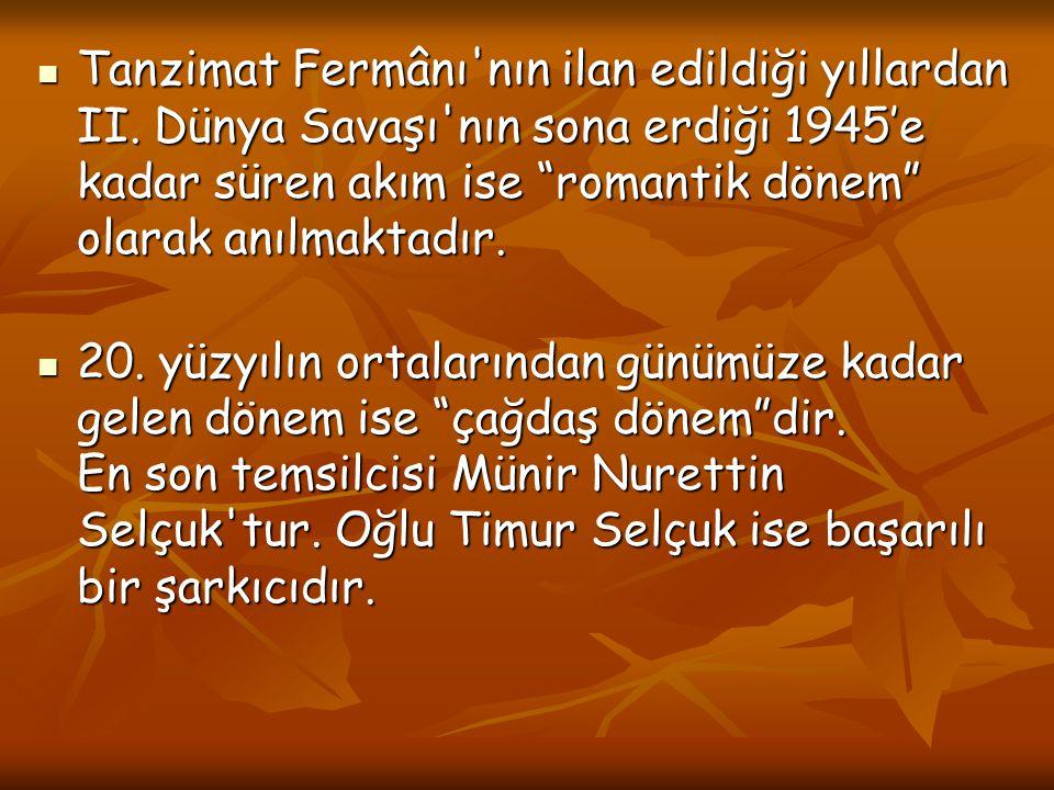 Tanzimat Fermânı nın ilan edildiği yıllardan II.