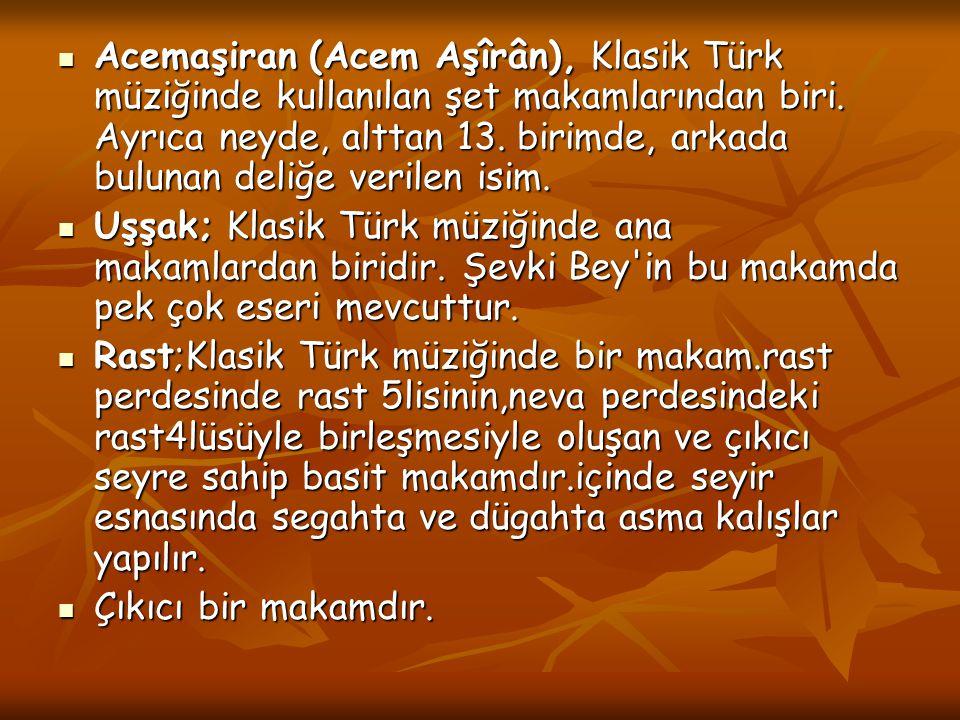 Acemaşiran (Acem Aşîrân), Klasik Türk müziğinde kullanılan şet makamlarından biri. Ayrıca neyde, alttan 13. birimde, arkada bulunan deliğe verilen isi