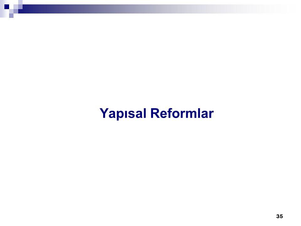 35 Yapısal Reformlar