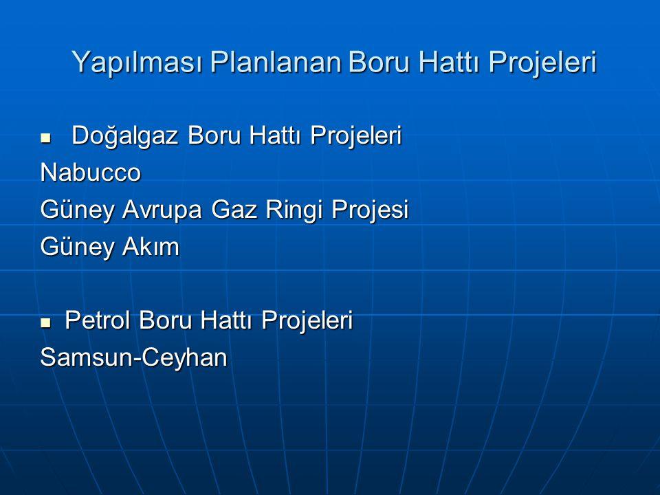 Yapılması Planlanan Boru Hattı Projeleri Yapılması Planlanan Boru Hattı Projeleri Doğalgaz Boru Hattı Projeleri Doğalgaz Boru Hattı ProjeleriNabucco G