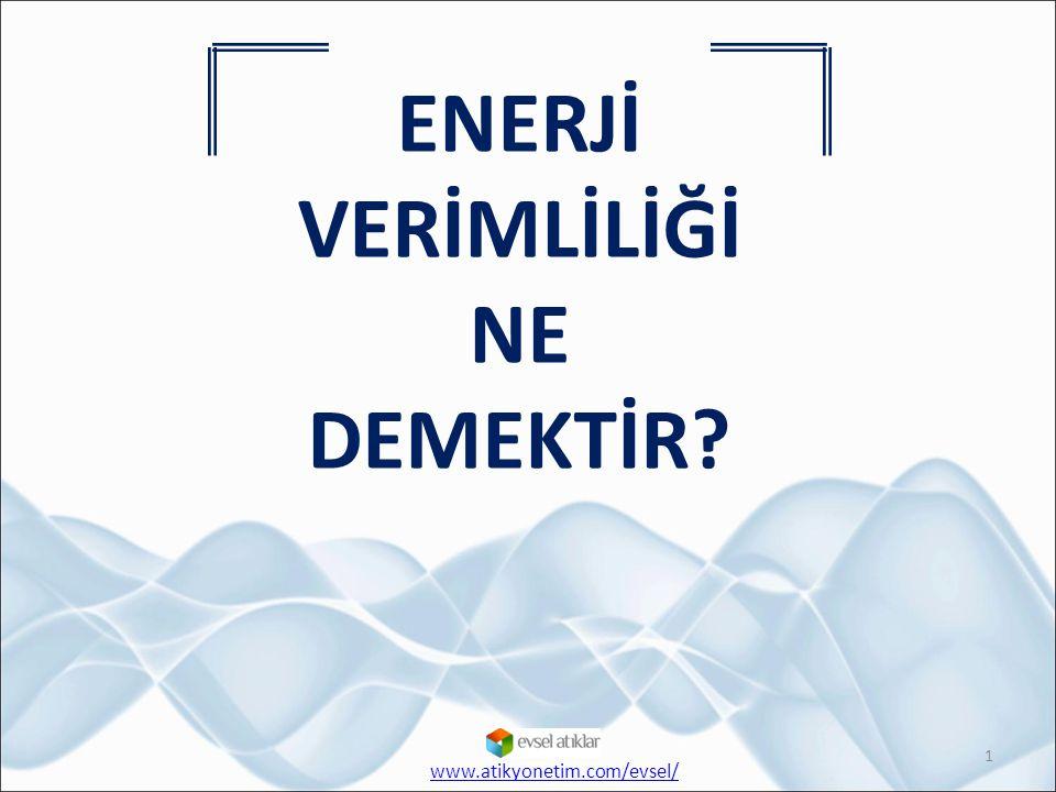 ENERJİ VERİMLİLİĞİ NE DEMEKTİR? 1 www.atikyonetim.com/evsel/