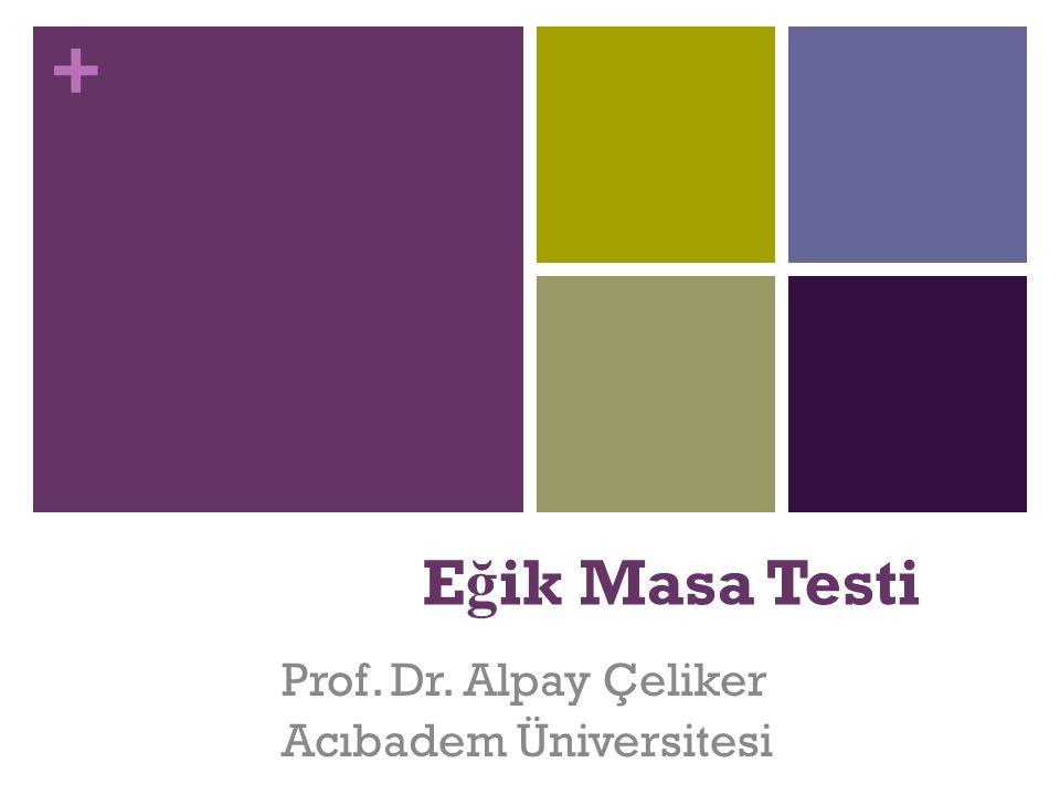+ E ğ ik Masa Testi Prof. Dr. Alpay Çeliker Acıbadem Üniversitesi