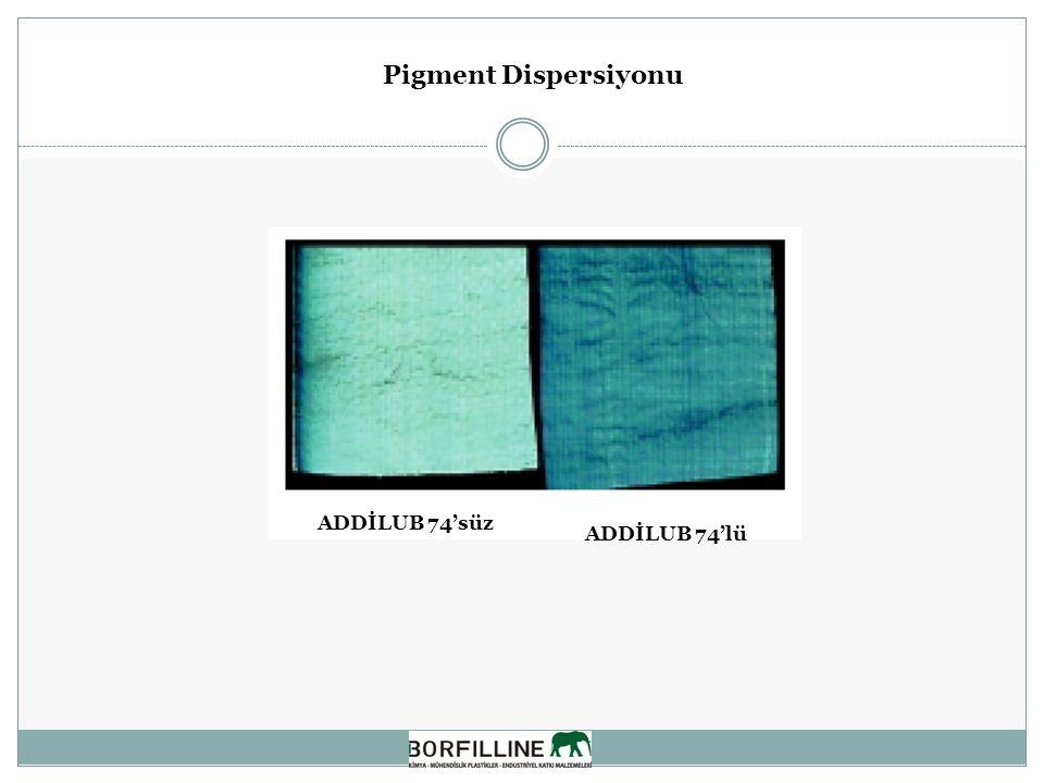 Pigment Dispersiyonu ADDİLUB 74'lü ADDİLUB 74'süz