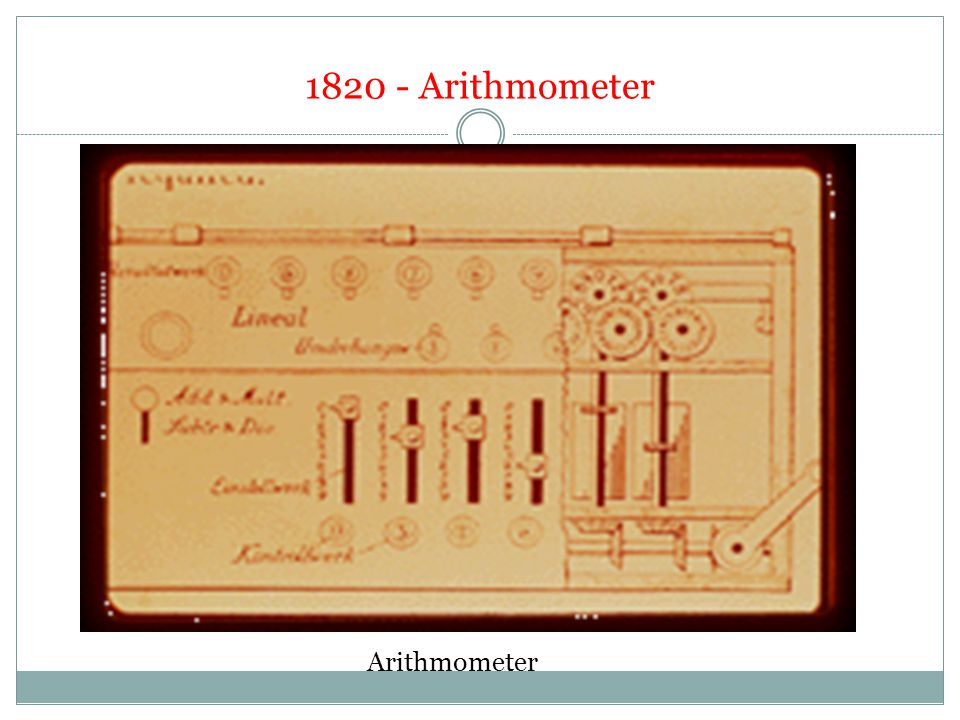 1820 - Arithmometer Arithmometer