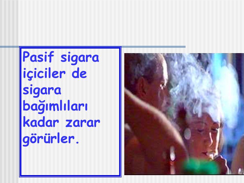 Pasif sigara içiciler de sigara bağımlıları kadar zarar görürler.