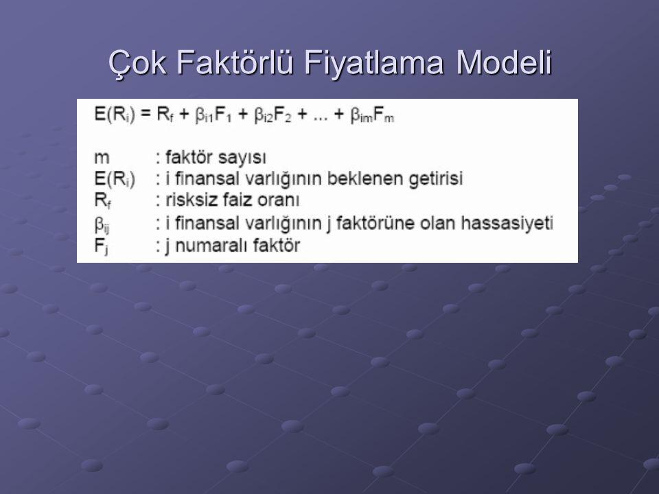 Çok Faktörlü Fiyatlama Modeli