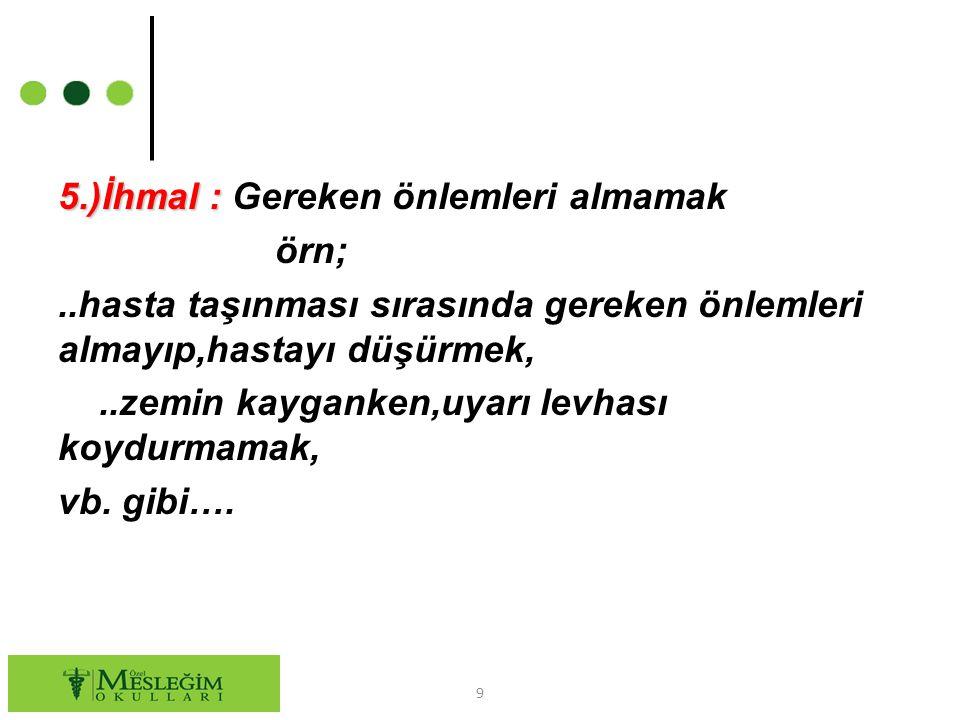 6.)Emir ve Yönetmeliklere Uymamak :..kanun,..