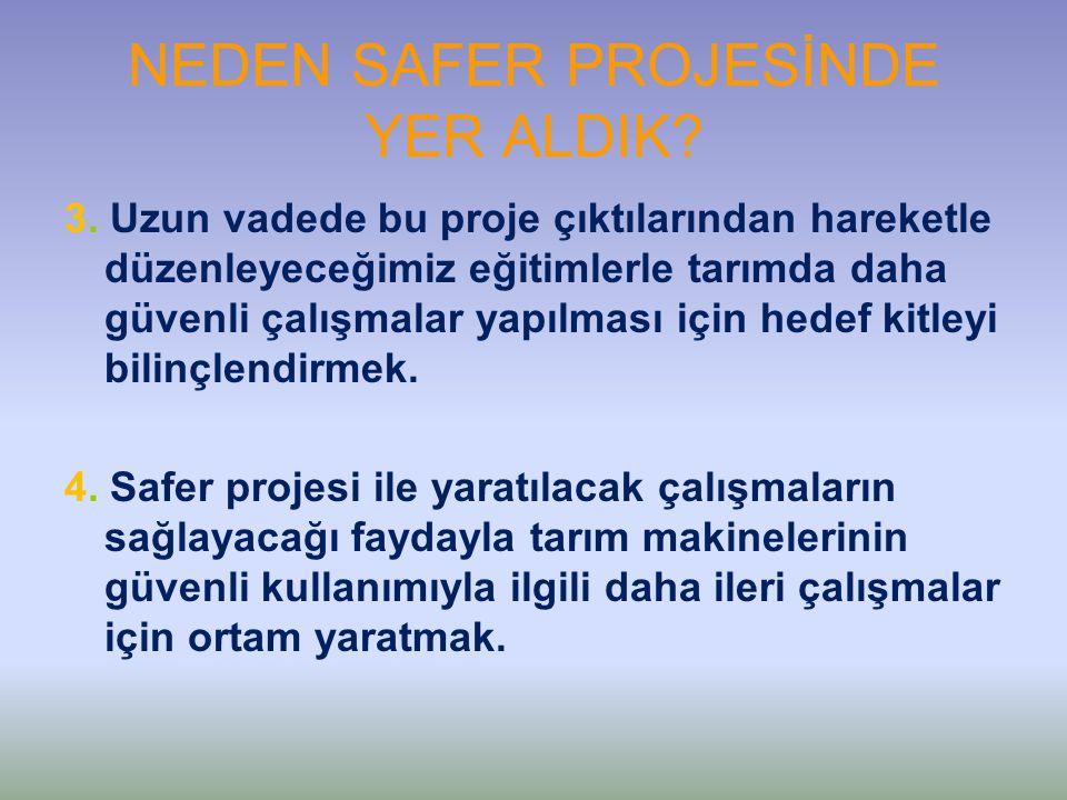 NEDEN SAFER PROJESİNDE YER ALDIK. 3.
