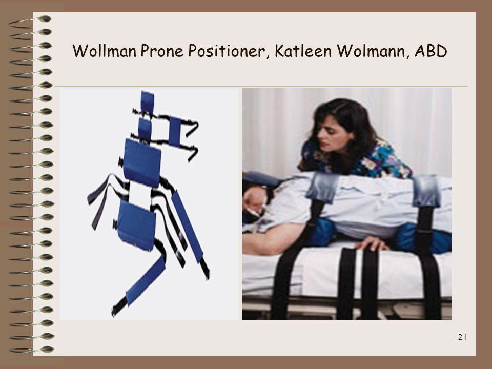 21 Wollman Prone Positioner, Katleen Wolmann, ABD