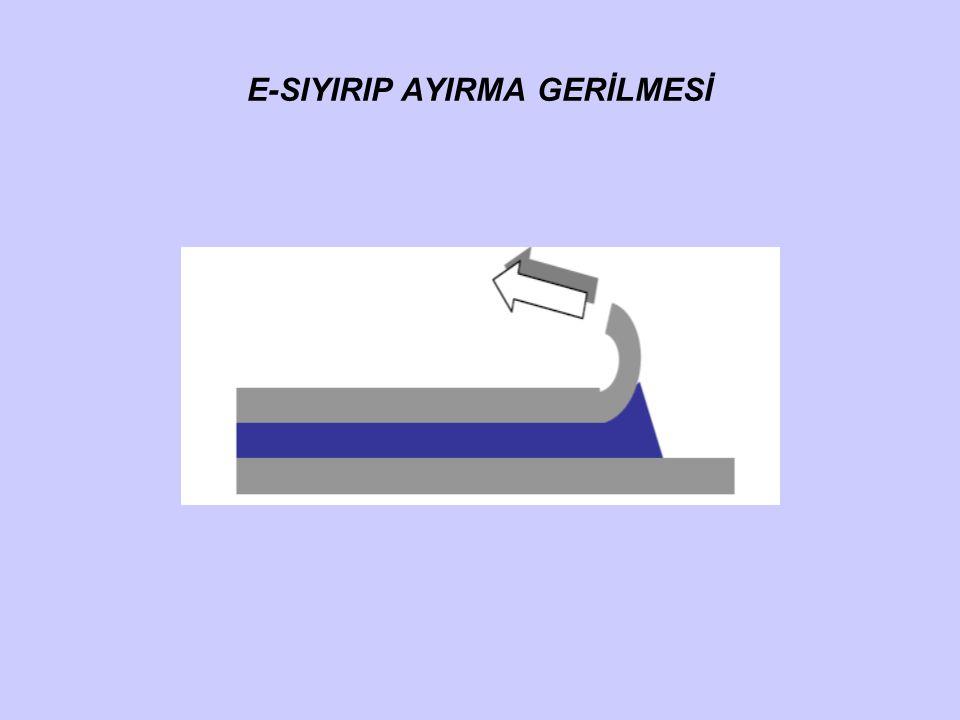 E-SIYIRIP AYIRMA GERİLMESİ