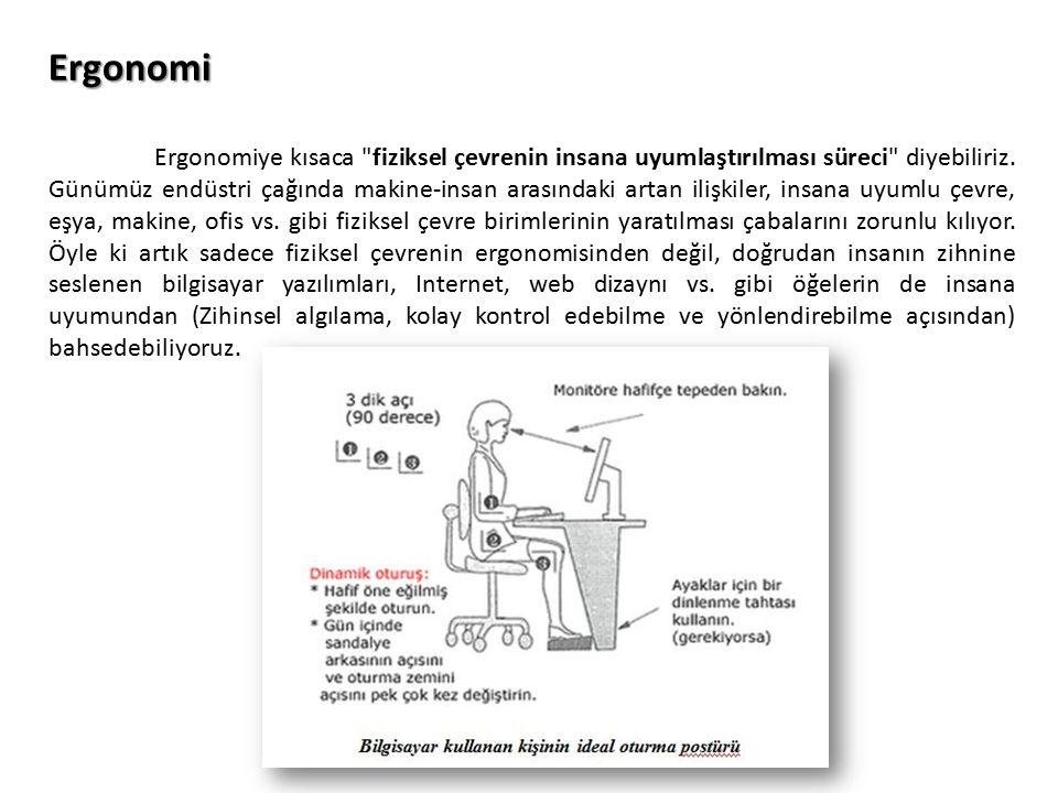 Bu anlamda ergonomi, birçok bilimsel disiplinin ortak çalışma alanı olan (Başta mühendislik, mimarlık, tıp, fizyoloji, anatomi, psikoloji, sosyoloji olmak üzere) bir yaklaşımlar bütünüdür.