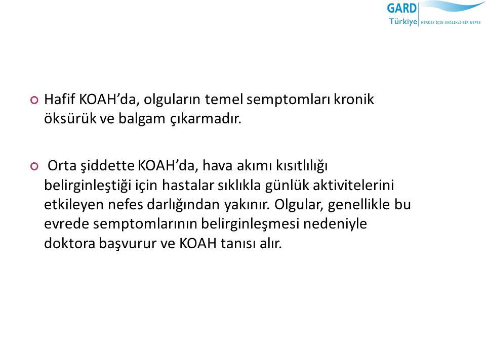 KOAH, pek çok komorbid durumun birlikte olduğu bir hastalıktır.