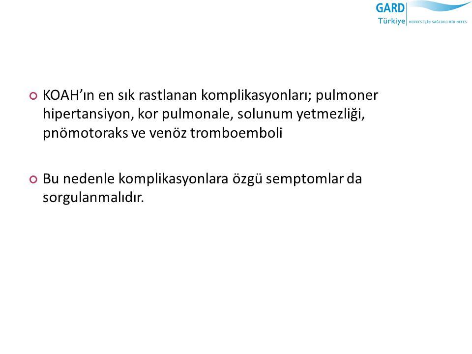 SEVK KRİTERLERİ 12.KOAH semptomları hava yolu obstrüksiyonunun şiddeti ile örtüşmüyorsa II.