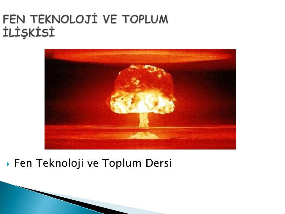 ENERJİ VE TOPLUM