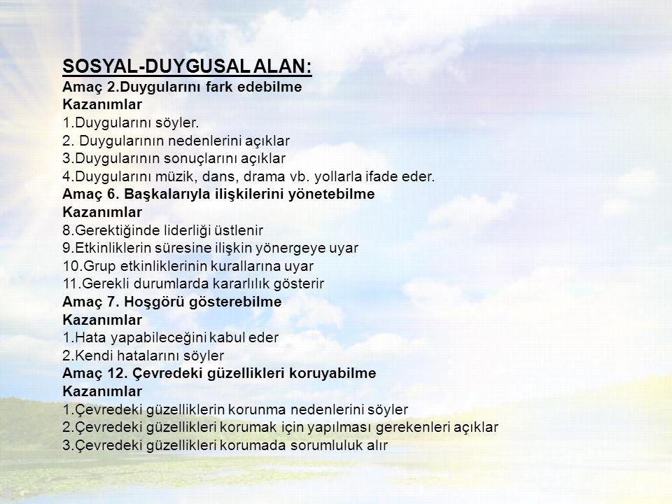 DİL ALANI Amaç 5.