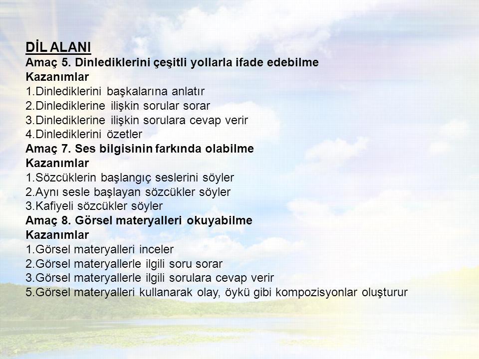 BİLİŞSEL ALAN Amaç 3.