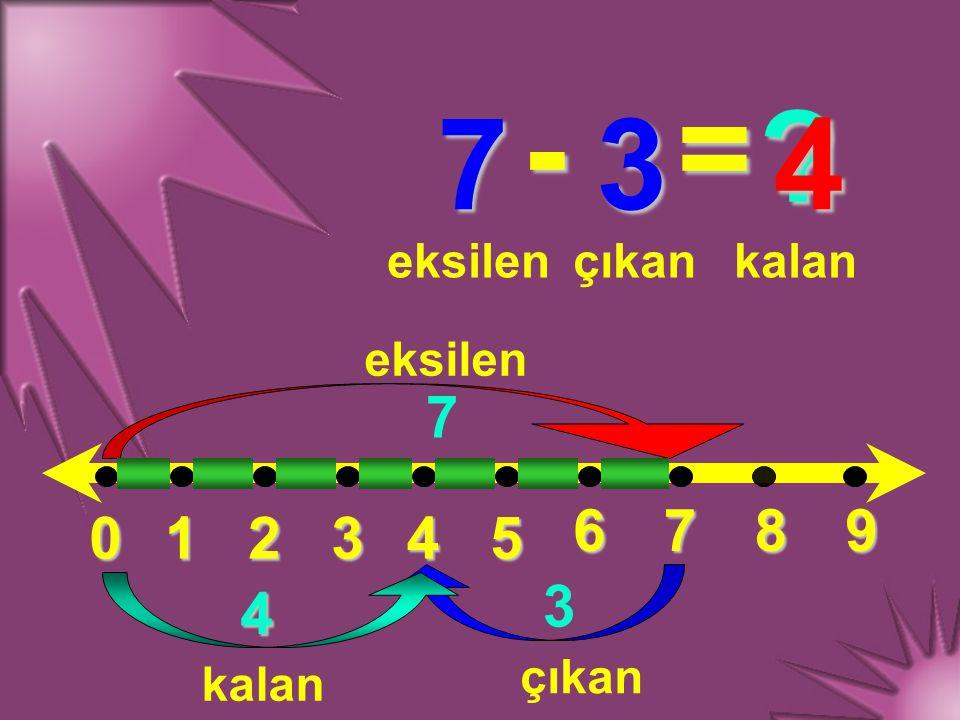 012345 6789 5 - 5 = ? eksilençıkankalan 5 5 0 eksilen çıkan kalan 0