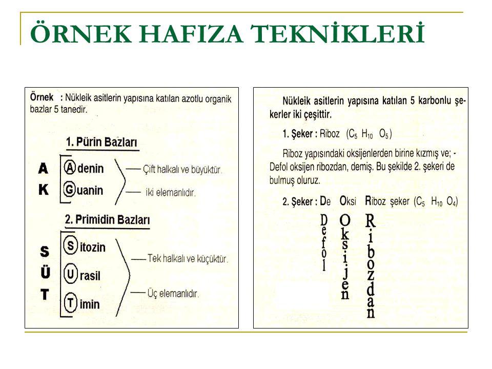 ÖRNEK HAFIZA TEKNİKLERİ