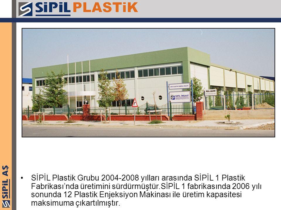 SİPİL Plastik Grubu 2004-2008 yılları arasında SİPİL 1 Plastik Fabrikası'nda üretimini sürdürmüştür.SİPİL 1 fabrikasında 2006 yılı sonunda 12 Plastik