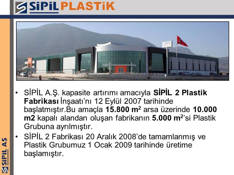 SİPİL A.Ş. kapasite artırımı amacıyla SİPİL 2 Plastik Fabrikası İnşaatı'nı 12 Eylül 2007 tarihinde başlatmıştır.Bu amaçla 15.800 m 2 arsa üzerinde 10.