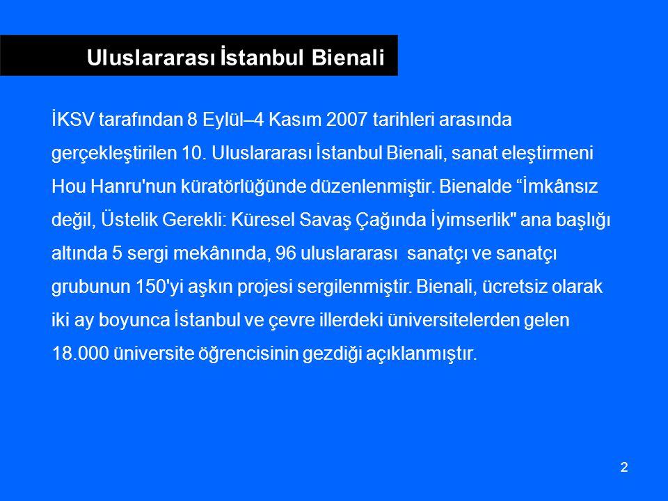 2 Uluslararası İstanbul Bienali İKSV tarafından 8 Eylül–4 Kasım 2007 tarihleri arasında gerçekleştirilen 10.