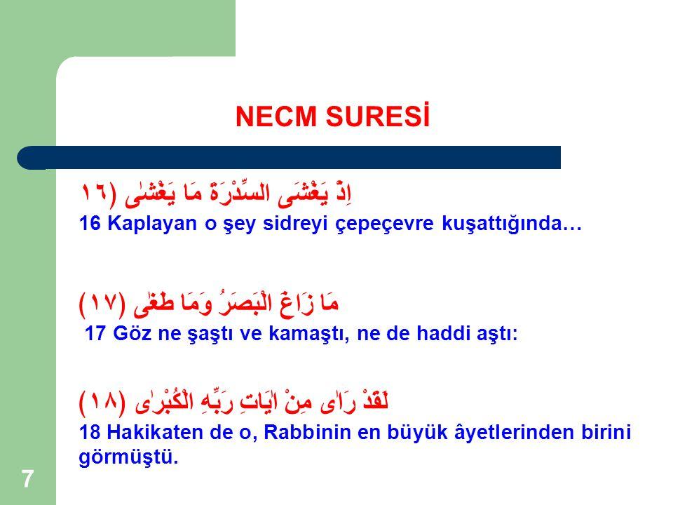 138 NECM SURESİ Ad kavmi; Hz Hud'u dinlemedi.