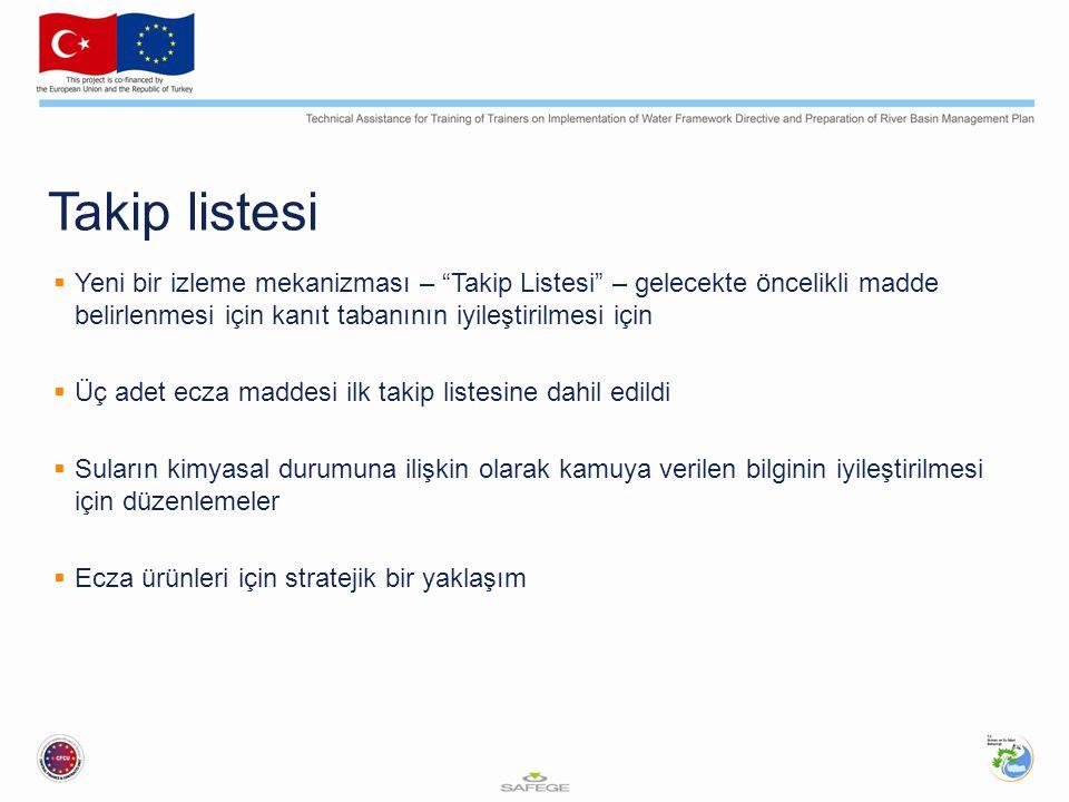 """Takip listesi  Yeni bir izleme mekanizması – """"Takip Listesi"""" – gelecekte öncelikli madde belirlenmesi için kanıt tabanının iyileştirilmesi için  Üç"""