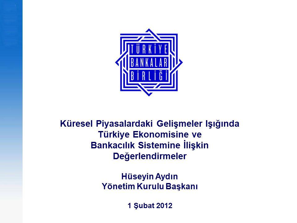 Küresel Piyasalardaki Gelişmeler Işığında Türkiye Ekonomisine ve Bankacılık Sistemine İlişkin Değerlendirmeler Hüseyin Aydın Yönetim Kurulu Başkanı 1
