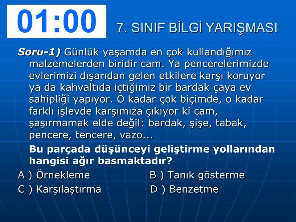 Soru-2) Aşağıdaki cümlelerin hangisinde büyük harflerin kullanımıyla ilgili yanlışlık vardır.