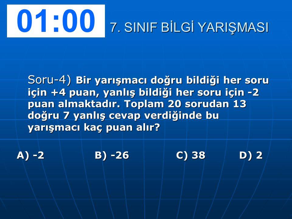 Soru-5) Aşağıdakilerden hangisi ile rasyonel sayıları arasındadır.