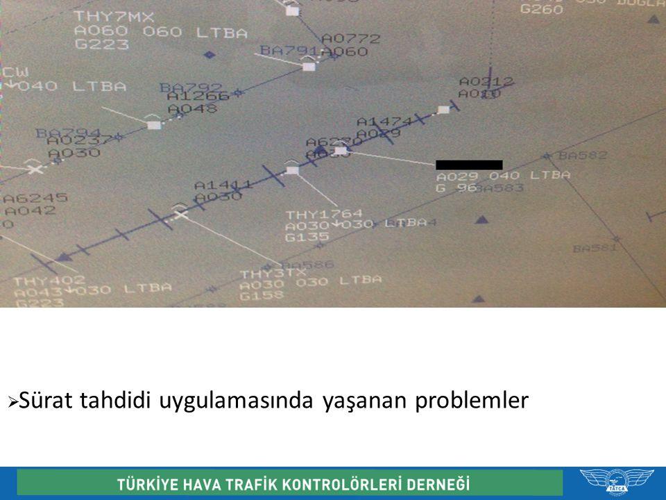  Anlaşma mektupları ve bazı ATC kurallarının bilinmemesinden doğan ve frekansta yaşanan polemiklerin yarattığı sıkıntılar ( Trafik devir usülleri, devir noktaları, ayırma minumumları, sürat tahditleri vb)