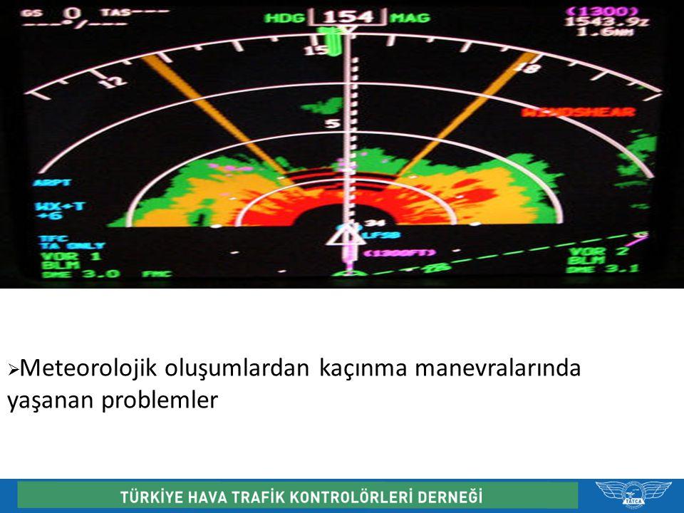  Meteorolojik oluşumlardan kaçınma manevralarında yaşanan problemler