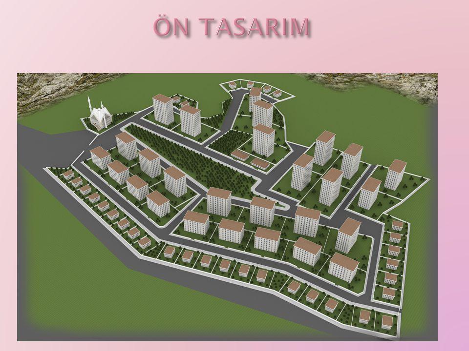 4 farklı kat adedi (tümü çift daire)  4, 6, 8, 10 kat SEÇENEKLİ  Müstakil Villalar, En az 2, 3 farklı büyüklükte daireler  120-180 m 2 arasında daire büyüklükleri