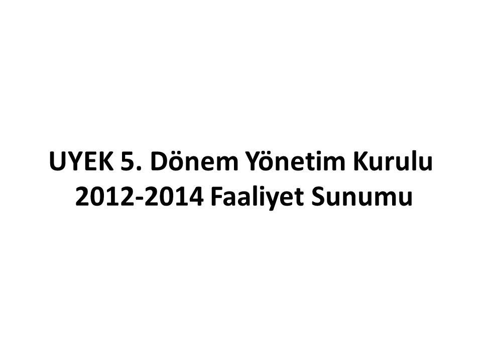 UYEK 5. Dönem Yönetim Kurulu 2012-2014 Faaliyet Sunumu