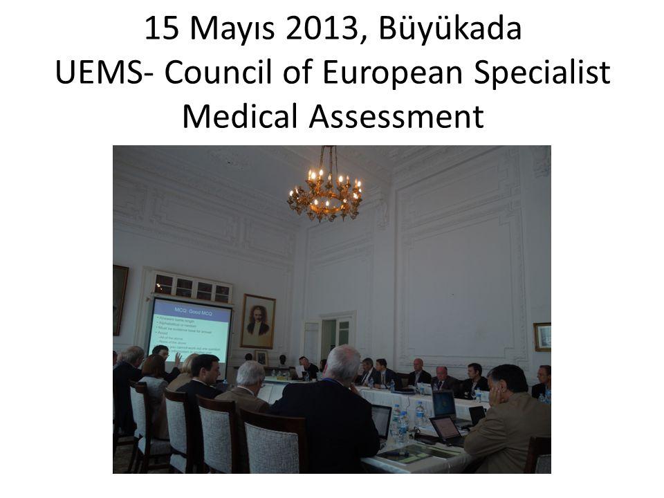 15 Mayıs 2013, Büyükada UEMS- Council of European Specialist Medical Assessment