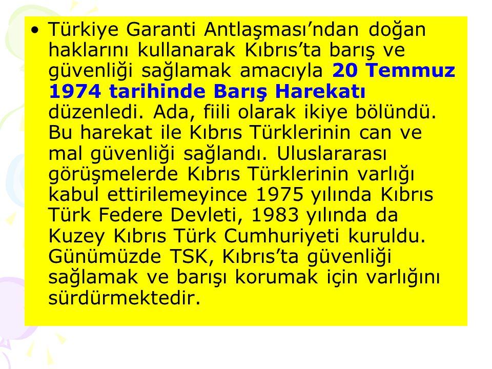 1963 yılında Kıbrıslı Rumların Anayasa'yı değiştirerek adayı Yunanistan'a bağlama girişimleri Türkiye'nin tepkisine yol açtı. Adada, Türkler ve Rumlar