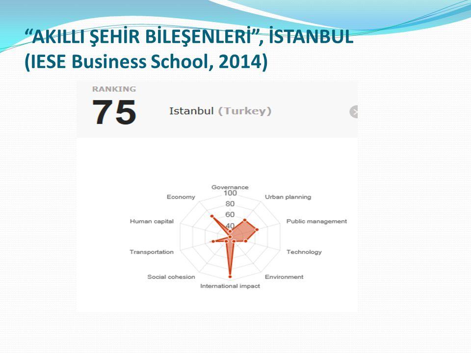 """""""AKILLI ŞEHİR BİLEŞENLERİ"""", İSTANBUL (IESE Business School, 2014)"""