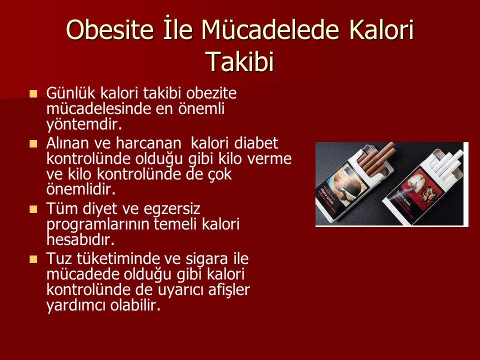 Obesite İle Mücadelede Kalori Takibi Günlük kalori takibi obezite mücadelesinde en önemli yöntemdir. Alınan ve harcanan kalori diabet kontrolünde oldu
