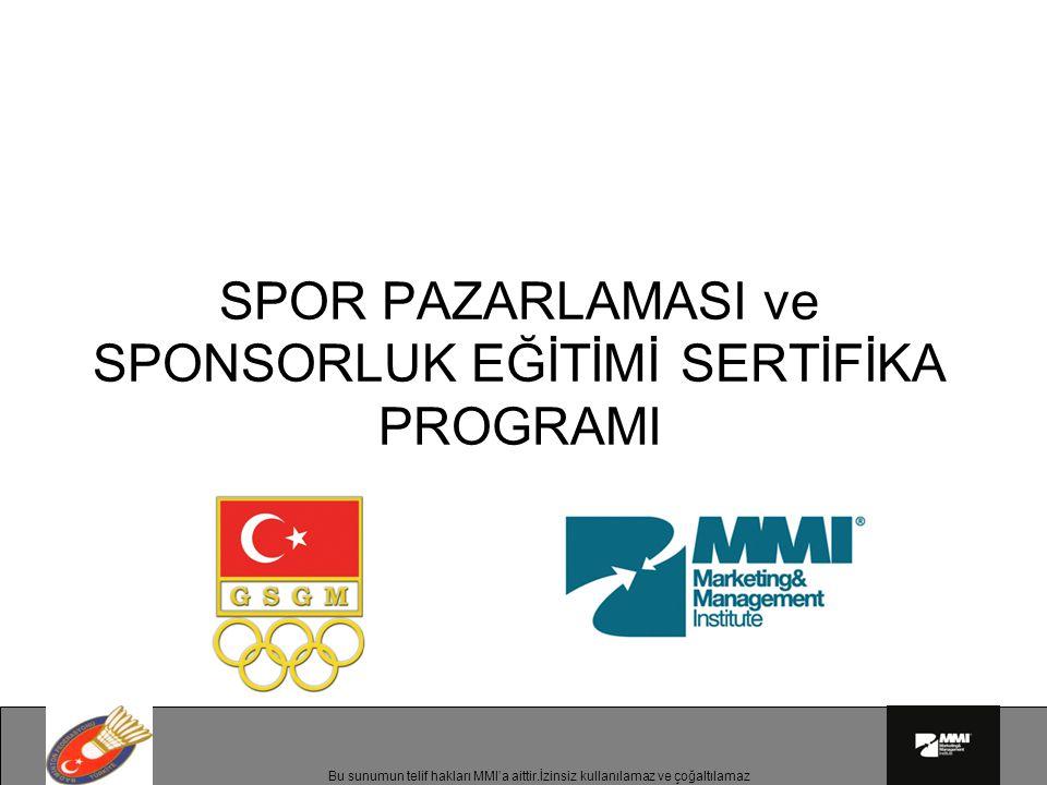 Bu sunumun telif hakları MMI'a aittir.İzinsiz kullanılamaz ve çoğaltılamaz İş hedefi Türkiye şişelenmiş içme suyu pazarına girişinden 2 yıl sonra pazarın ciro bakımından ilk 3 markasından biri olmak.
