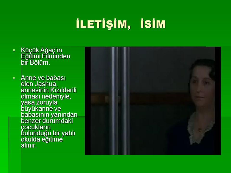 İLETİŞİM, İSİM İLETİŞİM, İSİM  Küçük Ağaç'ın Eğitimi Filminden bir Bölüm.