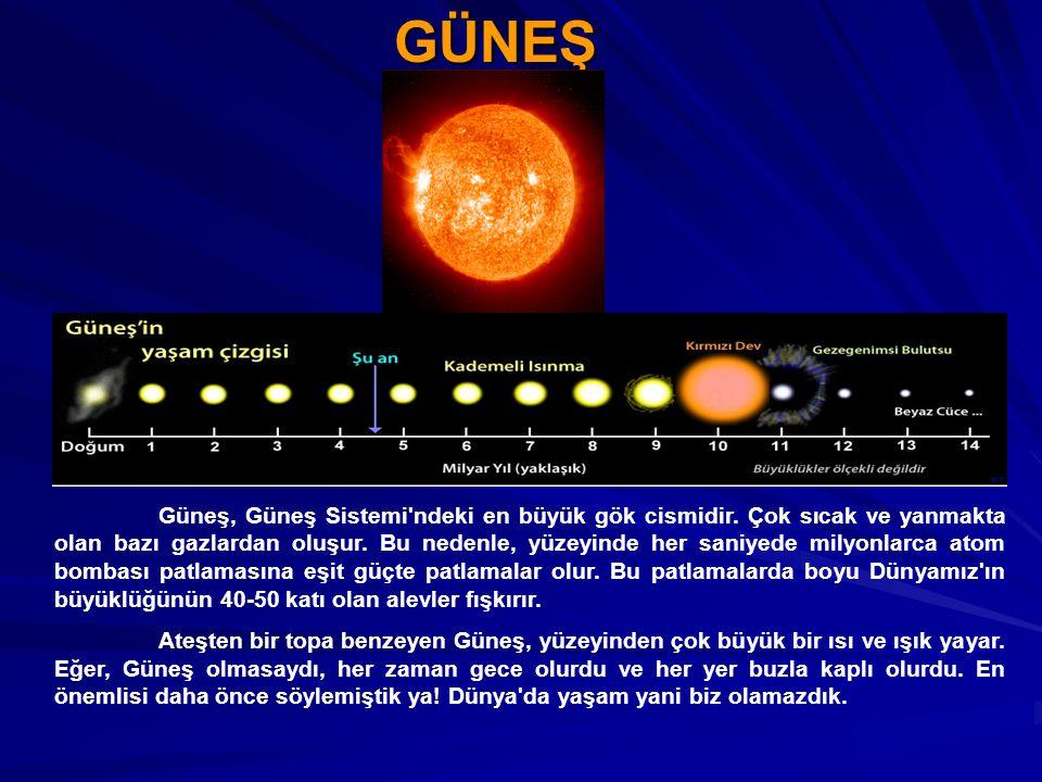 GEZEGENLER Gezegenlerin yıldızların etrafında dönen gökcisimleri olduğundan daha önce bahsetmiştik.