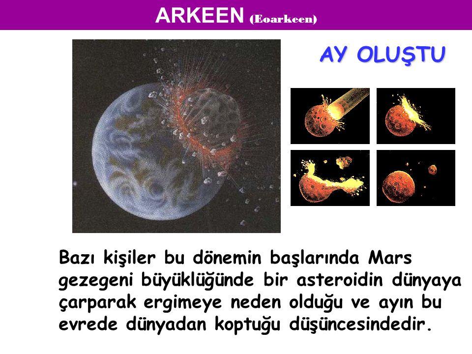 Bazı kişiler bu dönemin başlarında Mars gezegeni büyüklüğünde bir asteroidin dünyaya çarparak ergimeye neden olduğu ve ayın bu evrede dünyadan koptuğu düşüncesindedir.