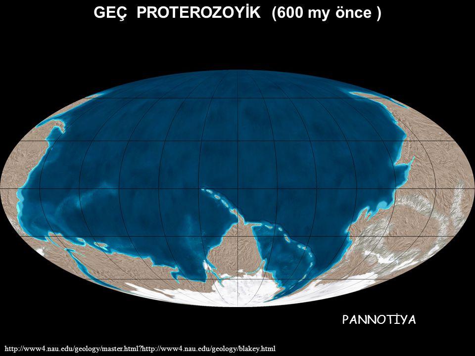 GEÇ PROTEROZOYİK (600 my önce ) http://www4.nau.edu/geology/master.html?http://www4.nau.edu/geology/blakey.html PANNOTİYA