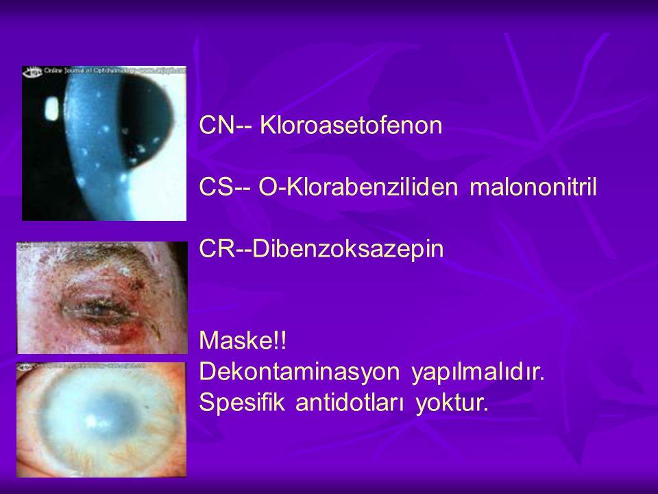CN-- Kloroasetofenon CS-- O-Klorabenziliden malononitril CR--Dibenzoksazepin Maske!.